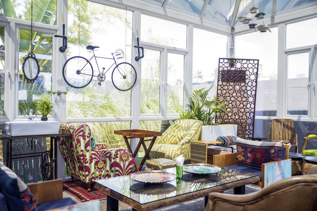textured sunroom design